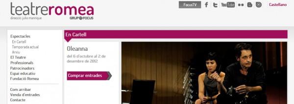 SEIC actualiza la imagen de las webs de los teatros del Grup Focus