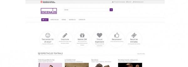 La campanya Escena 25 té com a eix central un web dissenyat i creat per SEIC