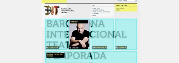 El Barcelona Internacional Teatre (BIT) compta amb un web creat per SEIC