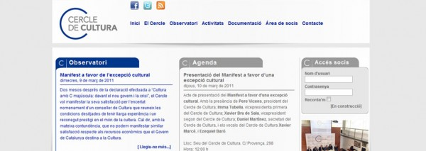 SEIC crea la web del Cercle de Cultura